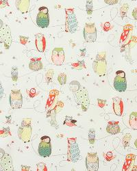 Beige Birds Fabric  Spotted Owl Natural