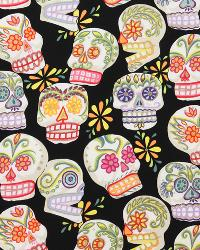 Calaveras-Glitter Black by