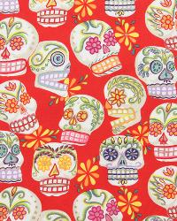 Calaveras-Glitter Red by