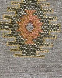 Grey Navajo Print Fabric  Kilim Chenille MMF 6075 B