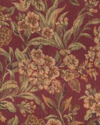 Medium Print Floral Fabric  Gardner Wine