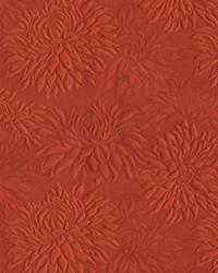 Large Print Floral Fabric  Lindstrom Cinabar