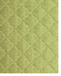 Green Quilted Matelasse Fabric  Tic Tac Toe Alfalfa
