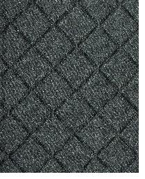 Black Quilted Matelasse Fabric  Tic Tac Toe Ebony