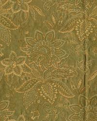 Green Large Print Floral Fabric  Watkins Sage