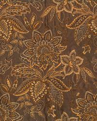Brown Large Print Floral Fabric  Watkins Truffle