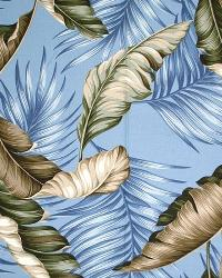 Big Kahuna Banana Leaf Slate Fabric