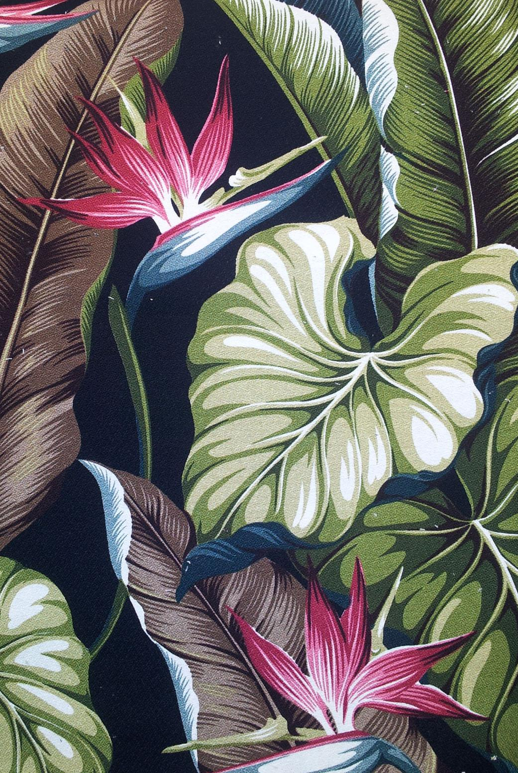 Big Kahuna Fabrics Bird of Paradise Black ...