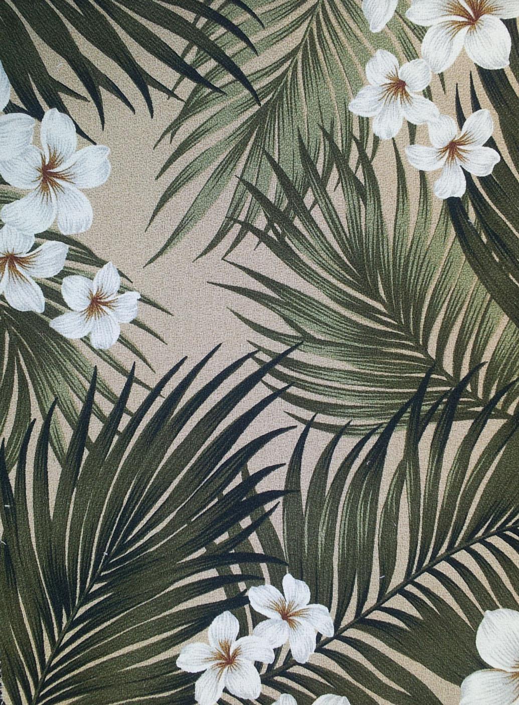 Big Kahuna Fabrics Plumeria Palm Cream