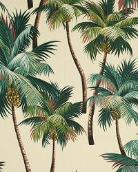 Beige Tropical Fabric Palm Trees Natural