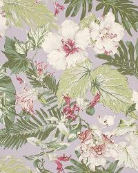 Big Kahuna Tropical Garden Lilac Fabric