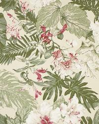 Big Kahuna Tropical Garden Natural Fabric