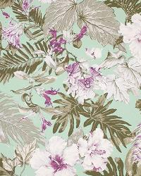 Big Kahuna Tropical Garden Sage Fabric