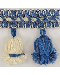 2 1/2 in Chenille Tassel Fringe 1304 BLW by