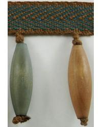 3 in Wood Bead Fringe B92797 EUC by