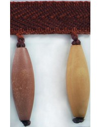 3 in Wood Bead Fringe B92797 PLM by