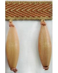 3 in Wood Bead Fringe B92797 TGL by