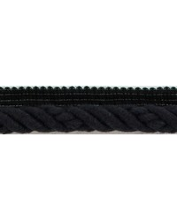 1/2 in Braided Cord W/Lip CC3804 BK by  Brimar Trim