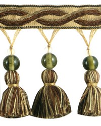 3 1/4 in Glass Bead Tassel Fringe HA120 TEY by