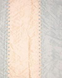 Blue Ticking Embroidery Fabric  Ticking Embroidery Blue Cream Stripe Silk