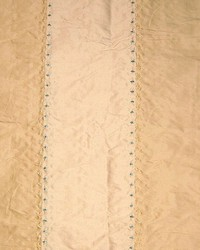 Beige Ticking Embroidery Fabric  Ticking Embroidery Camel Ivory Stripe Silk