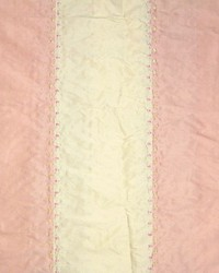 Pink Ticking Embroidery Fabric  Ticking Embroidery Pink Cream Stripe Silk