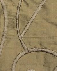 Brown Vine Embroidery Fabric  Vine Embroidery Bronze Silk