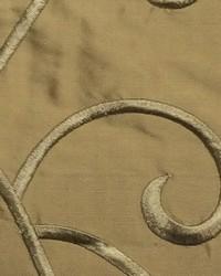 Beige Vine Embroidery Fabric  Vine Embroidery Camel Silk