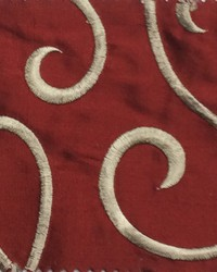 Red Vine Embroidery Fabric  Vine Embroidery Lacquer Red Silk