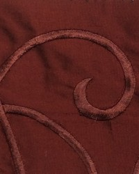 Red Vine Embroidery Fabric  Vine Embroidery Ruby Silk