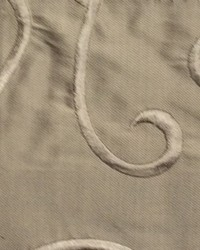 Brown Vine Embroidery Fabric  Vine Embroidery Taupe Silk