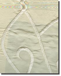 Beige Vine Embroidery Fabric  Vine Embroidery Cream