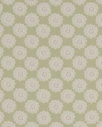 Green Small Print Floral Fabric  Daisy 01 Sage