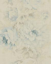 Medium Print Floral Fabric  Jasmine 503 Serenity