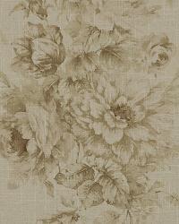 Medium Print Floral Fabric  Jasmine 61 Sepia
