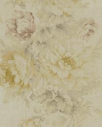 Beige Medium Print Floral Fabric  Jasmine 84 Antique