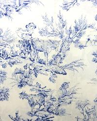 Blue French Country Toile Fabric  M Musee 0 Blue