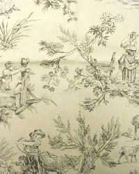 Beige French Country Toile Fabric  M Musee 101 Natural