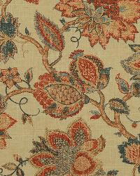 Red Jacobean Fabrics  Noblesse 349 Vintage Red Blch