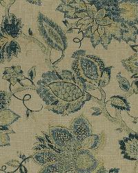 Blue Jacobean Fabrics  Noblesse 555 Classic Navy Des