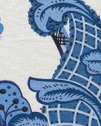 Blue Jacobean Fabrics  Wilmington 52 Cabana Blue