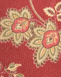 Large Print Floral Fabric  Baker Vintage Red