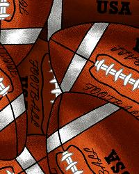 David Textiles Packed Footballs Fleece Fabric