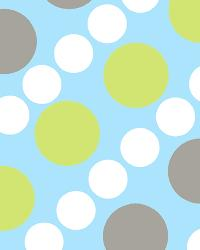 David Textiles Doodle Dots Blue/Green Flannel Fabric