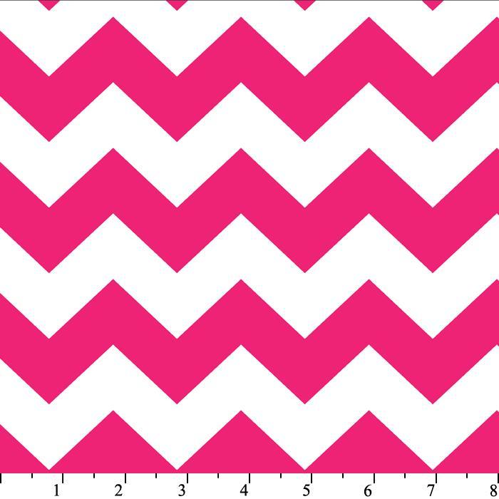 Chevron Stripe Hot Pink Cotton Print