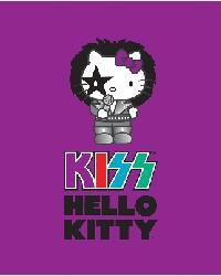 Hello Kitty Music Purple Anti-Pill Fleece Panel by