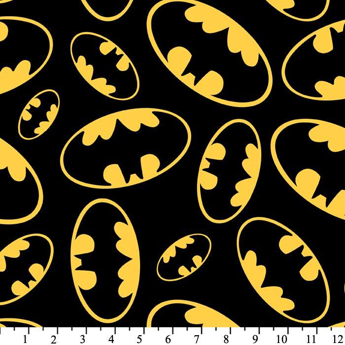 Batman Symbols Black Anti Pill Fleece