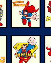 David Textiles Superman Cotton Print Book Panel Fabric
