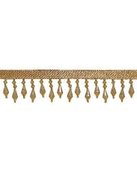 1 3/8 in Beaded Fringe Champagne/Green by