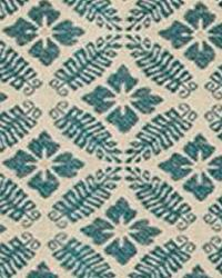 Blue Floral Diamond Fabric  15326 19